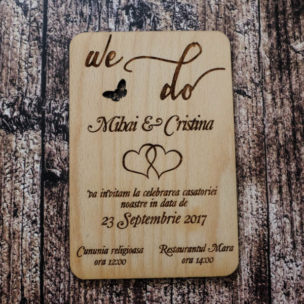 Invitatie Din Lemn Invitatie Nunta Yes We Do Artworks Pro