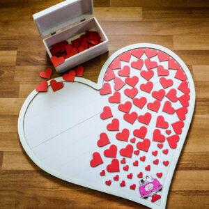 Tablou lemn + inimioare