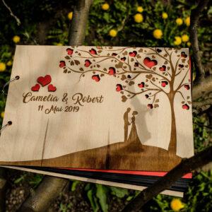 Guestbook - coperti lemn