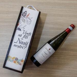 Cutii din lemn pentru depozitare sticla vin